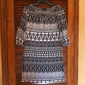 3/4 Sleeve Rayon Dress